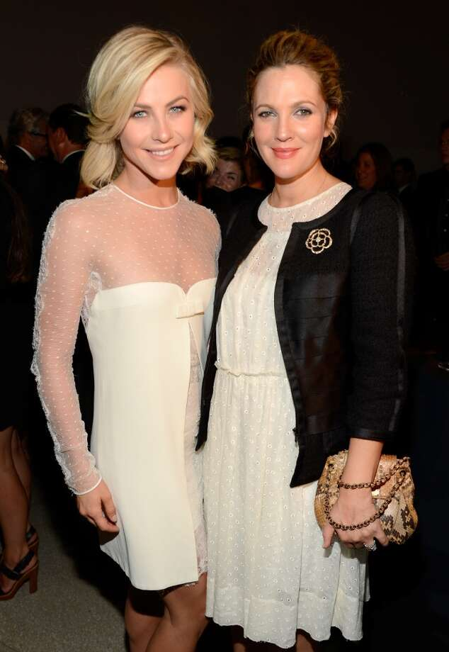 "Actors Julianne Hough (L) and Drew Barrymore attend the Estee Lauder ""Modern Muse"" Fragrance Launch Party at the Guggenheim Museum on September 12, 2013 in New York City.  (Photo by Kevin Mazur/Getty Images for Estee Lauder) Photo: Kevin Mazur"