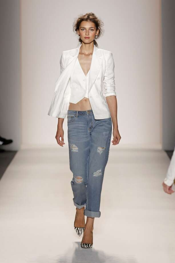 Zoe delved into denim in her spring 2014 show. Photo: Associated Press