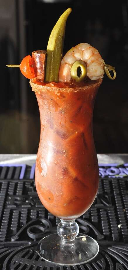 Tibideaux's Bloody Mary. Dave Ryan/cat5 Photo: Dave Ryan, Dave Ryan/The Enterprise