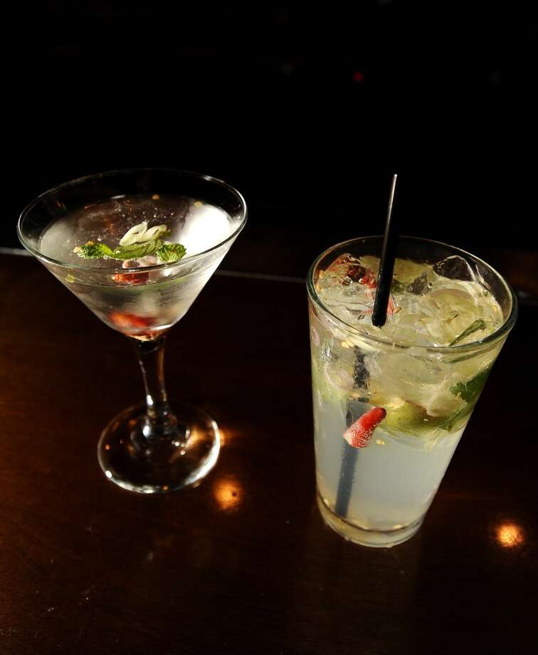 Chaba's Tom Yum Martini, left, and the Thai Tiger, right.Randy Edwards/cat5 Photo: Randy Edwards, Beaumont Enterprise