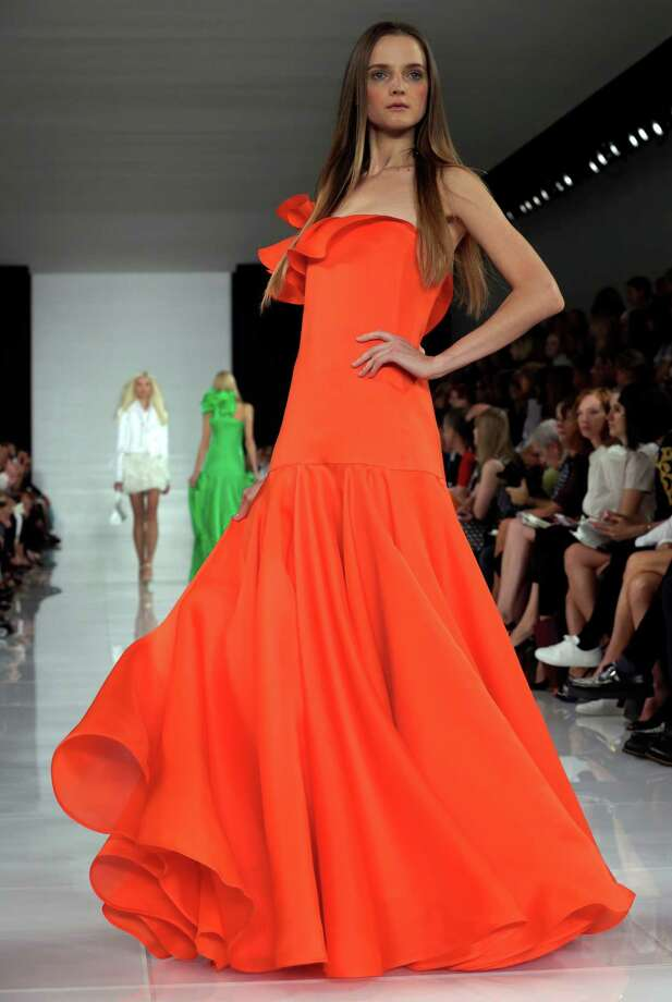 The Ralph Lauren Spring 2014 collection is modeled during Fashion Week in New York,  Thursday, Sept. 12, 2013. (AP Photo/Richard Drew) Photo: Richard Drew, STF / AP