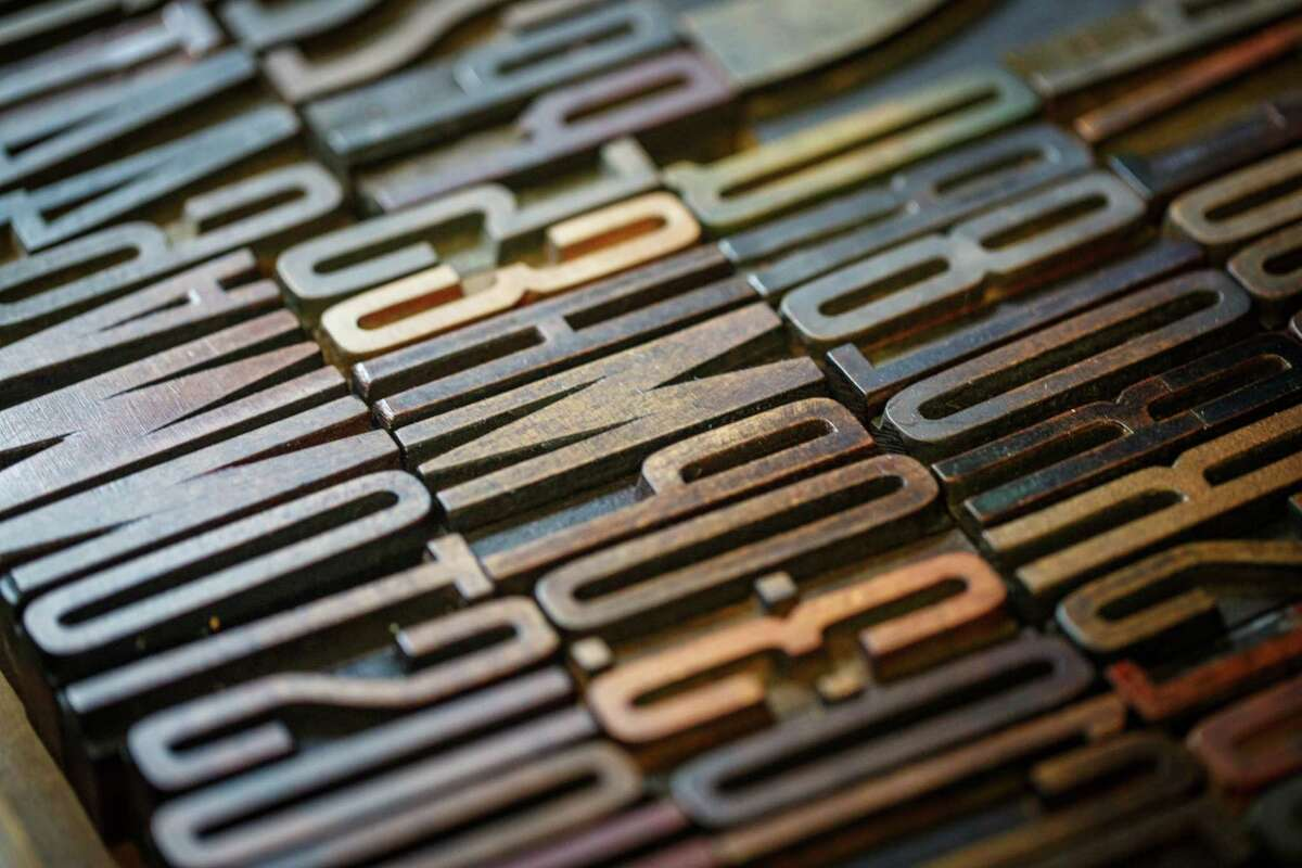 Wood type blocks are among their tools.