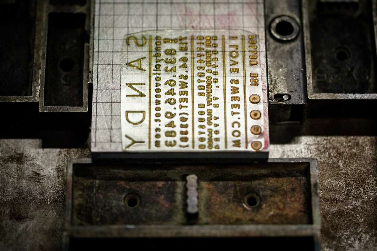 Letterplates, such as this one for a business card, produce crisp, artisanal results.