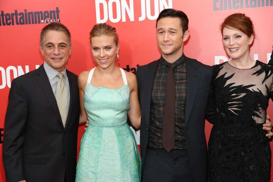 "(L-R)Tony Danza, Scarlett Johansson, Joseph Gordon-Levitt and Julianne Moore attend ""Don Jon"" New York Premiere at SVA Theater on September 12, 2013 in New York City.  (Photo by Rob Kim/Getty Images) Photo: Rob Kim, Getty Images"