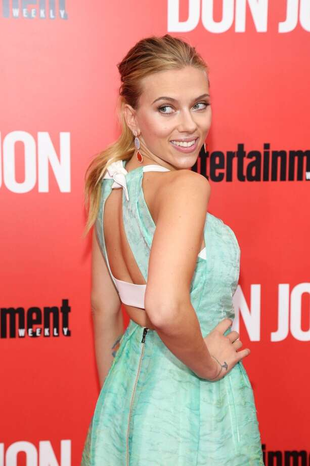 """Scarlett Johansson attends the """"Don Jon"""" New York premiere at SVA Theater on September 12, 2013 in New York City.  (Photo by Rob Kim/Getty Images) Photo: Rob Kim, Getty Images"""