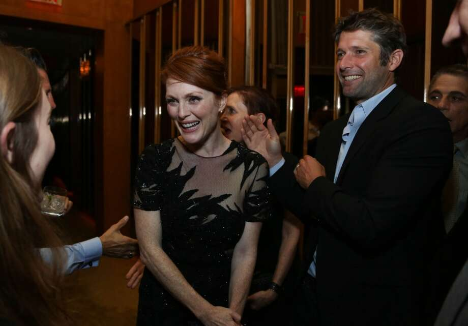 "Julianne Moore (L) and Bart Freundlich attend ""Don Jon"" New York Premiere After Party at Top of The Standard Hotel on September 12, 2013 in New York City.  (Photo by Rob Kim/Getty Images) Photo: Rob Kim, Getty Images"