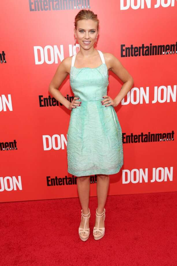 "Scarlett Johansson attends the ""Don Jon"" New York premiere at SVA Theater on September 12, 2013 in New York City.  (Photo by Rob Kim/Getty Images) Photo: Rob Kim, Getty Images"