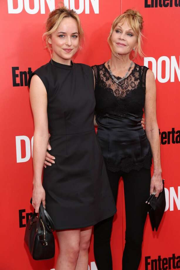 "Dakota Johnson and Melanie Griffith attend the ""Don Jon"" New York premiere at SVA Theater on September 12, 2013 in New York City.  (Photo by Rob Kim/Getty Images) Photo: Rob Kim, Getty Images"