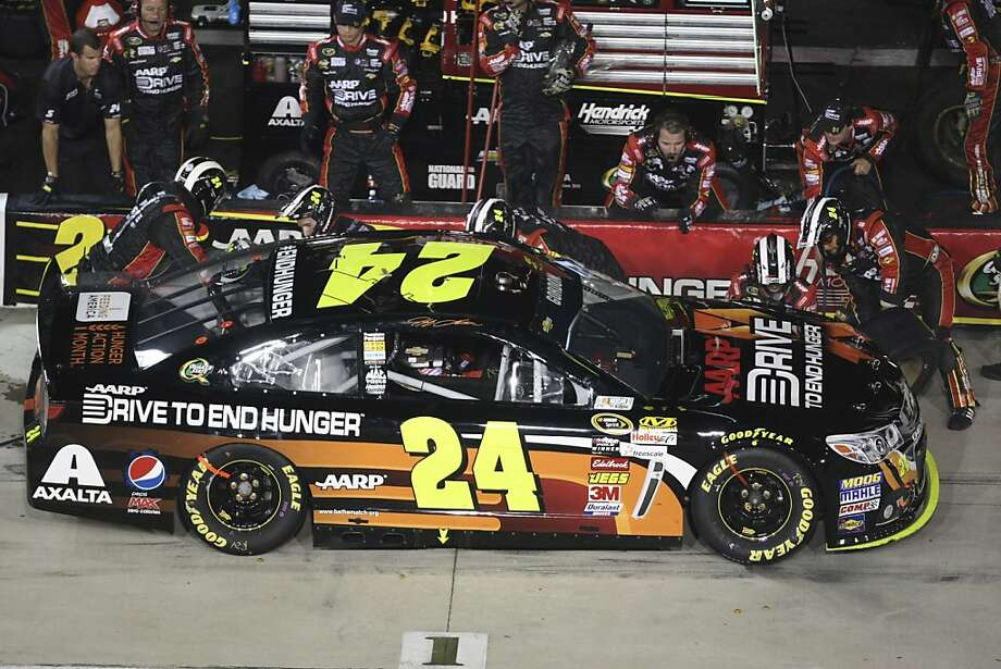 The addition of Jeff Gordon's No. 24 car gives Hendrick Motorsports four drivers in the 13-man Chase for the Sprint Cup championship field. Photo: Jason Hirschfeld, Associated Press