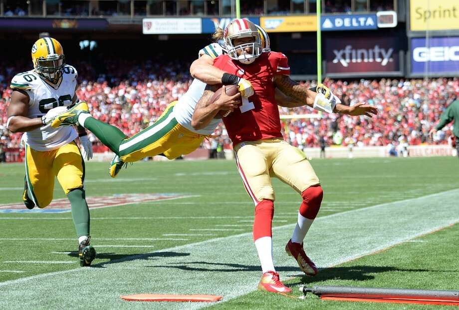 """On what impresses him about Kaepernick:""""Just watching Colin, I think he has great composure. He makes the plays when he needs to. He doesn't seem like he shies away from big games, and so you respect that as a quarterback. It's not easy playing in the National Football League. Whenever you see a guy that can make things happen the way he makes things happen, you have a lot of respect for him. I know our defense will be ready to go. It'll be a tough challenge for them but they will definitely be ready to bring their A-game, and we will see what happens."""" Photo: Thearon W. Henderson, Getty Images"""