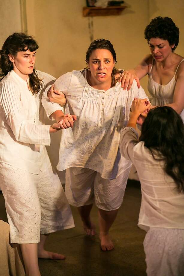 "Teenagers Elissa Beth Stebbins (left), Abigail Edber, Carlye Pollack and Arisa Bega mature at a Catholic reformatory in ""What Every Girl Should Know."" Photo: Cheshire Isaacs"