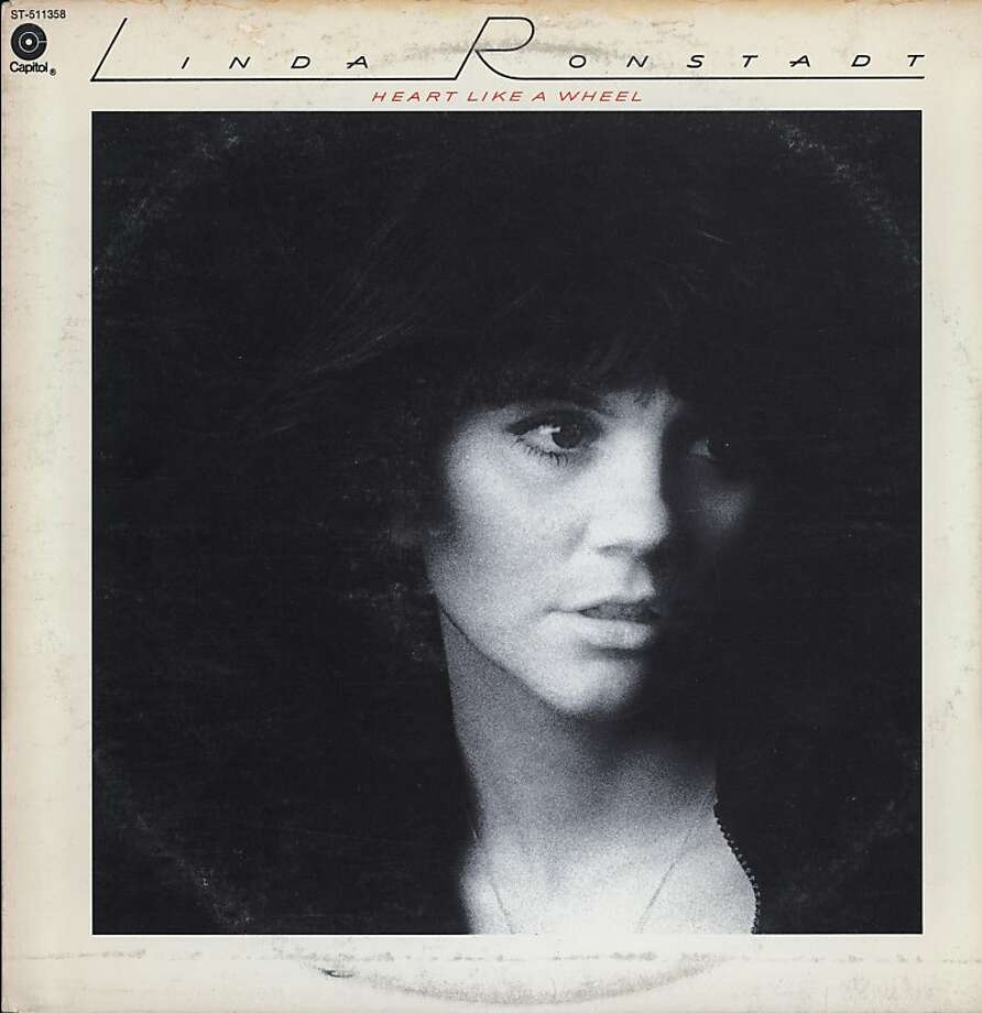 View of the cover of the album 'Heart Like a Wheel,' by Linda Ronstadt, 1974. The cover, published by Capitol Records (ST-511358), features a grainy black and white photo of Ronstadt. (Photo by Blank Archives/Getty Images) Photo: Blank Archives