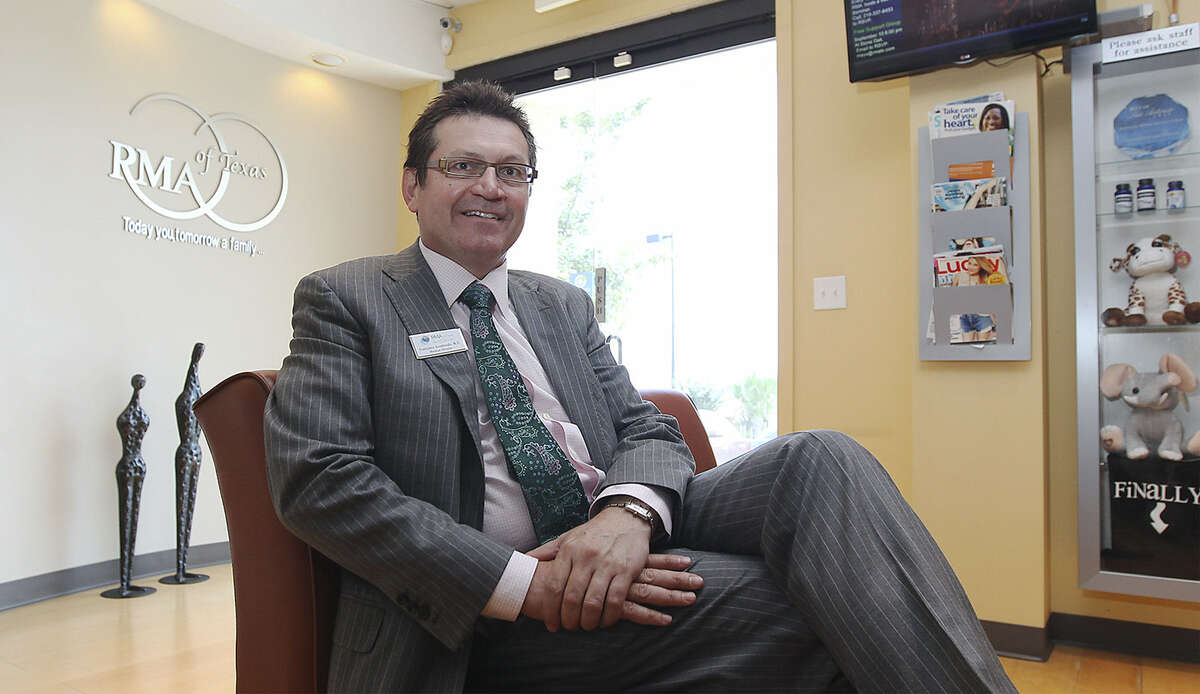 Dr. Francisco Arredondo, medical director of RMA of Texas World Class Fertility Care, is seen in the clinic's waiting area. The facility is one of many area clinics and hospitals that are marketing to Mexican nationals.