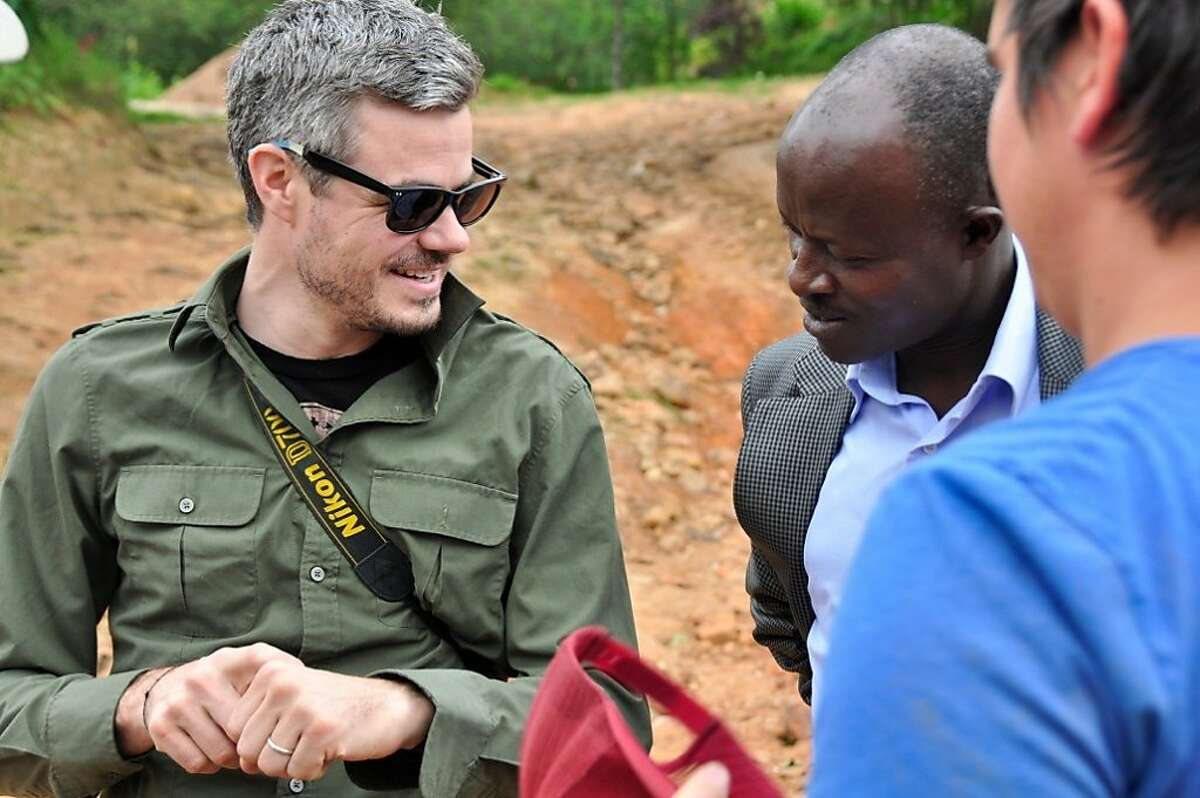Harrison works on a water project in Rwanda. Charity: water has worked on more than 9,000 water projects in 20 countries.