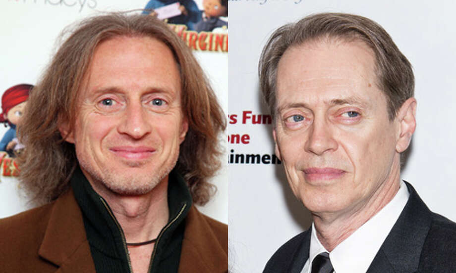 Famous: Steve Buscemi (right).  Famous for `Reservoir Dogs,' `Fargo,' `The Big Lebowski' and `Boardwalk Empire.'  Less famous: Michael Buscemi.  Less famous for playing God on `Nurse Jackie.' Photo: Getty Images