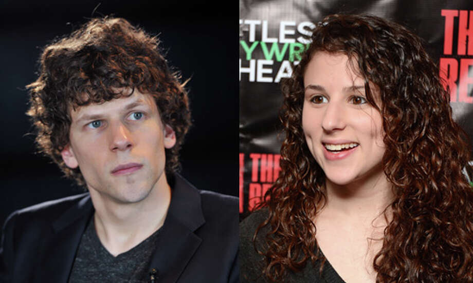 Famous:Jesse Eisenberg.  Famous for `Roger Dodger,' `The Social Network' and `Zombieland.'  Less famous: Hallie Kate Eisenberg.  Less famous for `How to Eat Fried Worms.' Photo: Getty Images