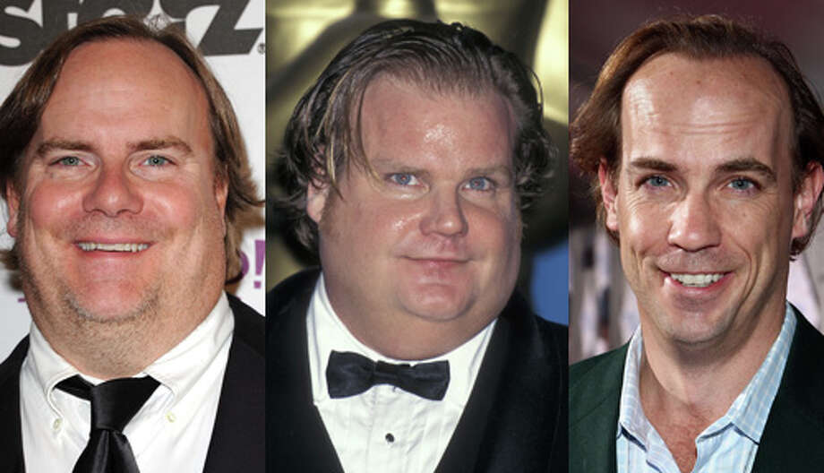 Famous: Chris Farley (center).  Famous for living in a van down by the river, `Tommy Boy' and `Black Sheep.'  Less famous: John Farley (right). Less famous for `Extreme Movie' and `Get Smart.'  Less famous: Kevin P. Farley.  Less famous for `An American Carol' and `Dude, Where's My Dog?!' Photo: Getty Images