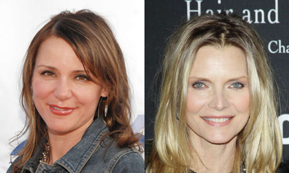 Famous:Michelle Pfeiffer (right).  Famous for `Scarface,' `Dangerous Liaisons,' `The Fabulous Baker Boys,' `Love Field' and `Cheri.'  Less famous: Dedee Pfeiffer.  Less famous for small roles in a bunch of Michelle's movies. Photo: Getty Images