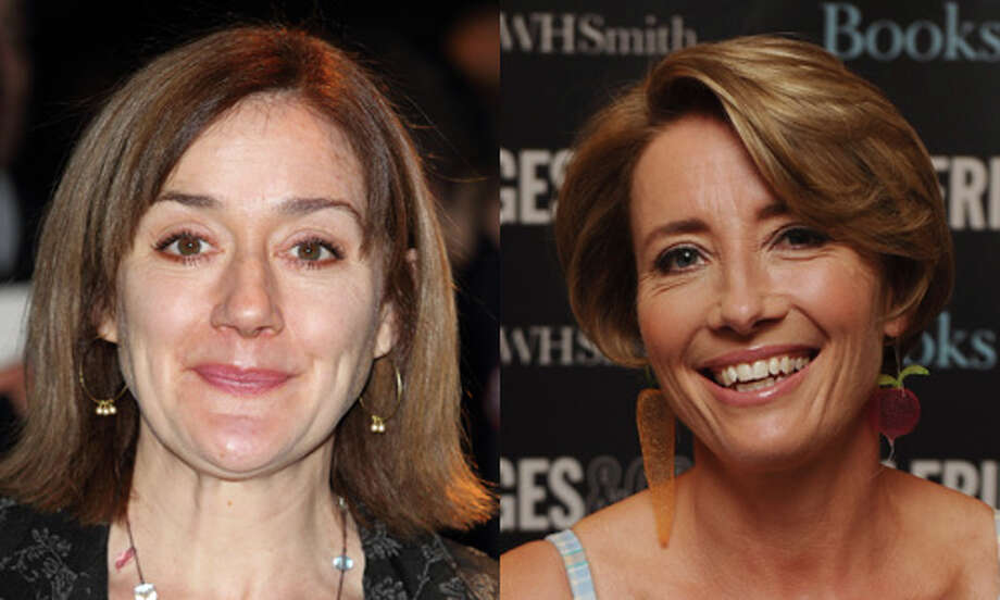 Famous: Emma Thompson (right).  Famous for Oscar wins for `Sense and Sensibility' and `Howards End.'   Less famous: Sophie Thompson.  Less famous for a small role in `Harry Potter and the Deathly Hallows: Part 1.'