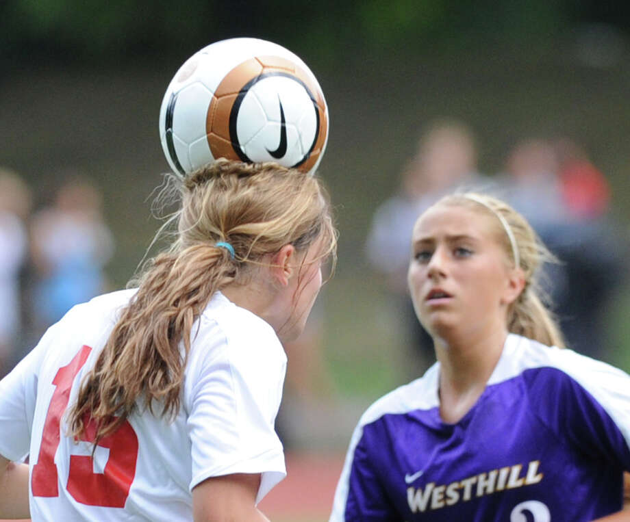 Girls varsity soccer match between Greenwich High School and Westhill High School at Greenwich, Friday, Sept. 13, 2013. Westhill defeated Greenwich, 1-0, on a goal by Jess Laszlo. Photo: Bob Luckey / Greenwich Time