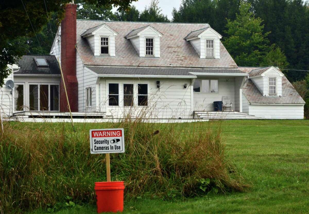 Seasonal home of former NFL star Brian Holloway Thursday, Sept. 12, 2013, in Stephentown, N.Y. (John Carl D'Annibale / Times Union)