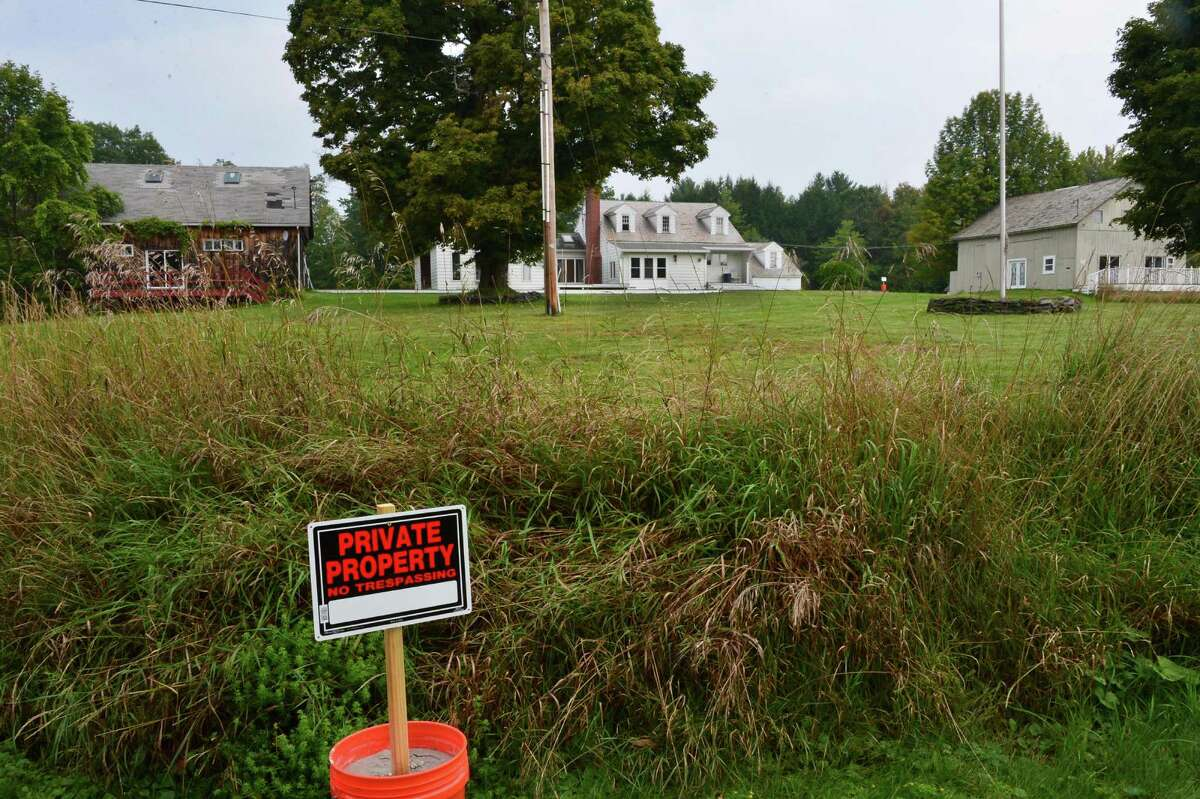 Seasonal property of former NFL star Brian Holloway Thursday, Sept. 12, 2013, in Stephentown, N.Y. (John Carl D'Annibale / Times Union)