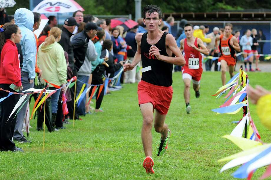 Niskayuna's Conor McDonough comes in fifth during the Springstead Invitational cross country run on Friday, Sept. 13, 2013, at Colonie Town Park in Colonie, N.Y. (Cindy Schultz / Times Union) Photo: Cindy Schultz / 00023820A