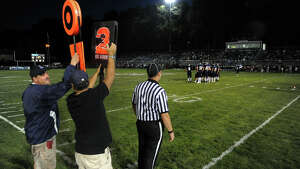 High school football action between Ansonia and Torrington in Ansonia, Conn. on Friday September 13, 2013.
