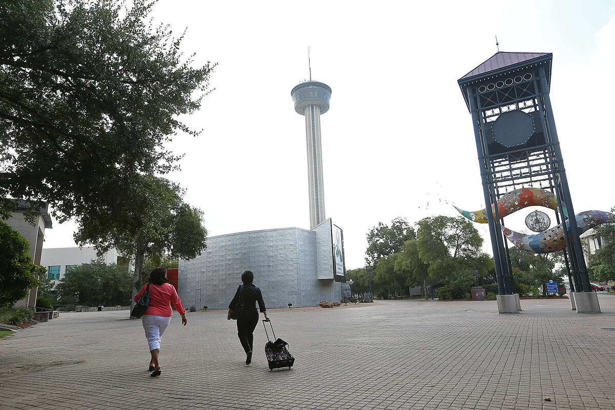 A report says the historic road cut through HemisFair Park, but no place in the park is that fact noted.