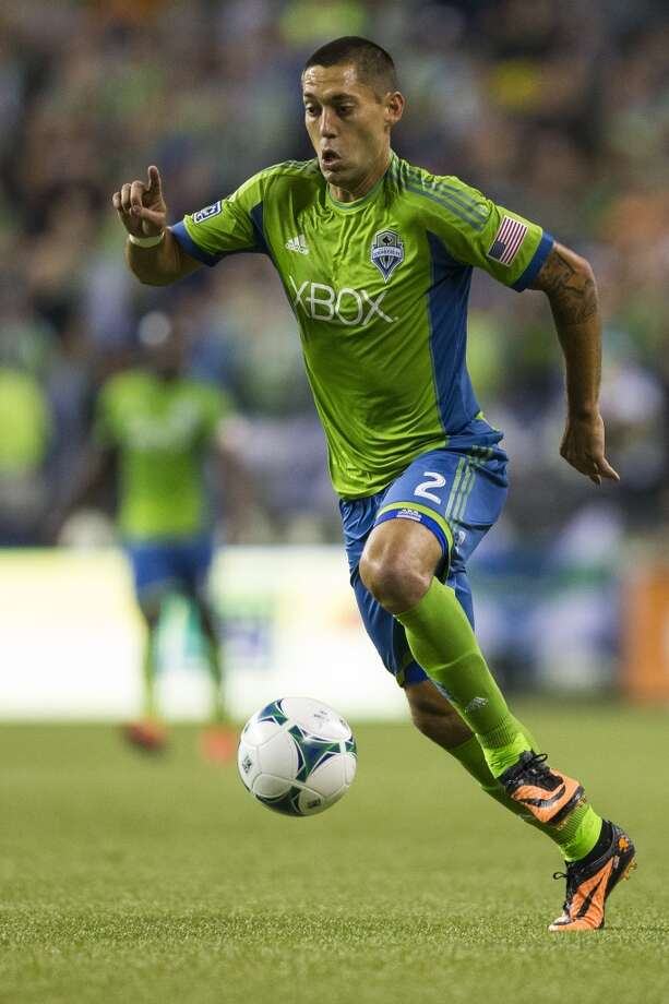 Seattle Sounders midfielder Clint Dempsey makes a run toward the Real Salt Lake goal during the second half of a game Friday, September 13, 2013, at CenturyLink Field in Seattle. The Sounders beat Real Salt Lake 2-0. With over 52,000 tickets distributed, the Sounders put their 12-game home unbeaten streak on the line during the face-off with Real Salt Lake. (Jordan Stead, seattlepi.com) Photo: JORDAN STEAD, SEATTLEPI.COM