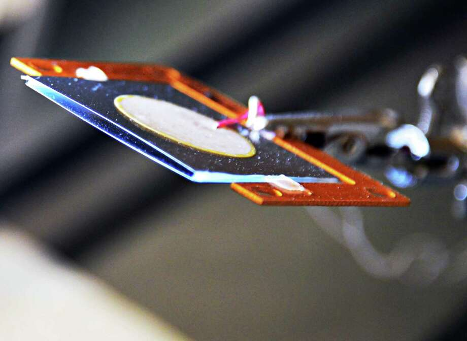 A DCJ (dual cooling jet) is displayed Friday Sept. 13, 2013, at GE Global Research in Niskayuna, N.Y.  (John Carl D'Annibale / Times Union) Photo: John Carl D'Annibale / 00023872A