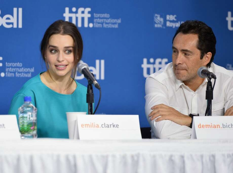 "Emilia Clarke also stars in movie ""Dom Hemingway"" with Demian Bichir, right, which debuted at the Toronto International Film Festival on Sept. 9, 2013. Photo: Alberto E. Rodriguez, Getty Images"