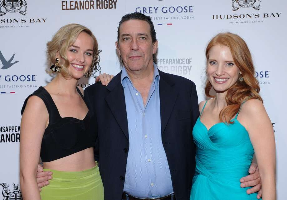 "Ciaran Hinds, center, stars in the movie ""The Disappearance of Eleanor Rigby"" with Jess Wexler, left, and Jessica Chastain, right. It was screened at the Toronto International Film Festival in September of 2013. Photo: George Pimentel, WireImage"