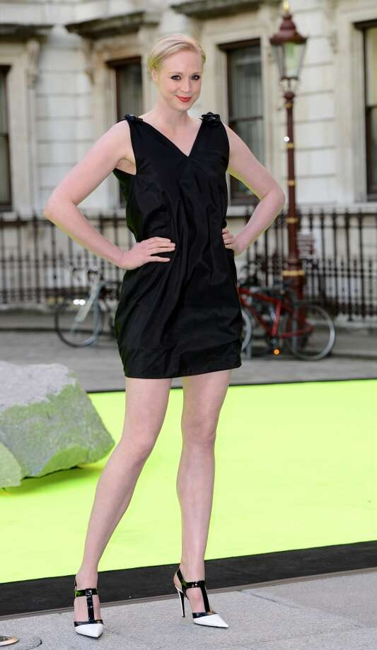 Gwendoline Christie shows off her fabulous height at a Royal Academy of Arts party in London on June 5, 2013. Photo: Karwai Tang, Getty Images