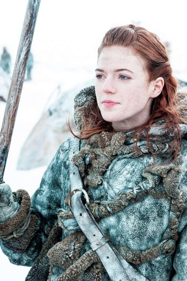 Scottish actress Rose Leslie as wildling Ygritte in Season 3. Photo: HELENSLOAN, HBO / HBO