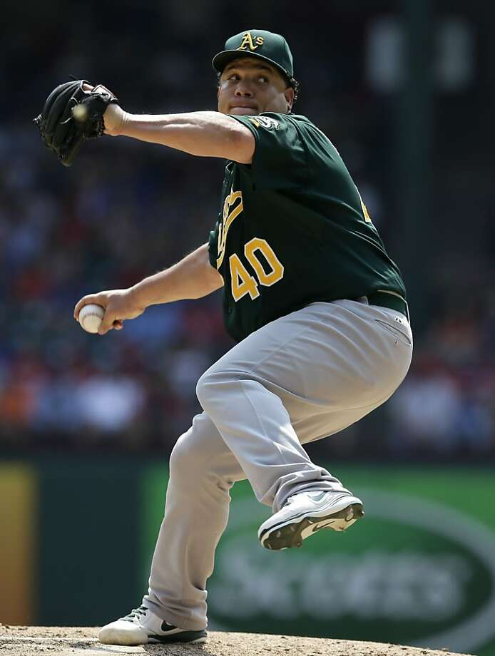 Bartolo Colon improved to 16-6 Saturday, and he isn't even clearly the ace of the A's pitching staff. Photo: Tony Gutierrez, Associated Press
