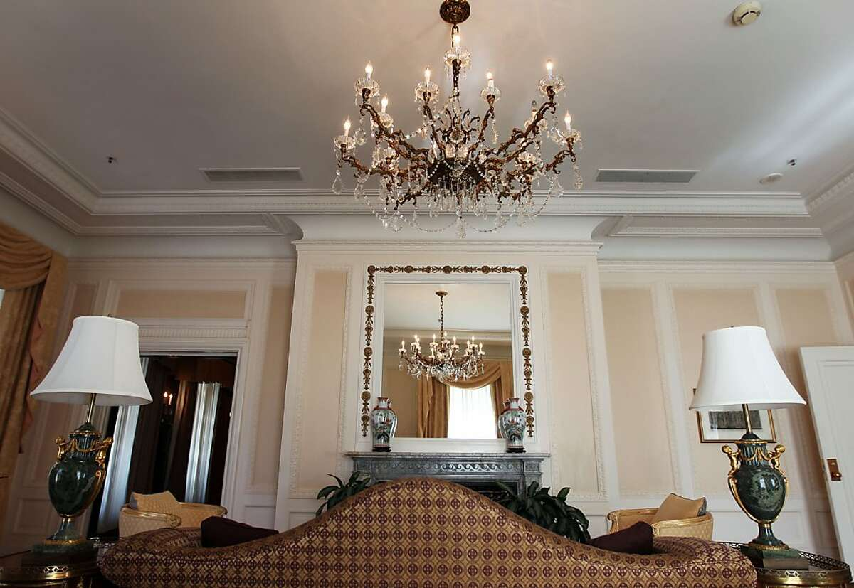 The living room of the Presidents suite seems timeless. President Warren Harding passed away under what some called mysterious circumstances at the Palace Hotel August 2, 1923. Photo taken September 14, 2012 in presidential suite of the hotel in San Francisco California.