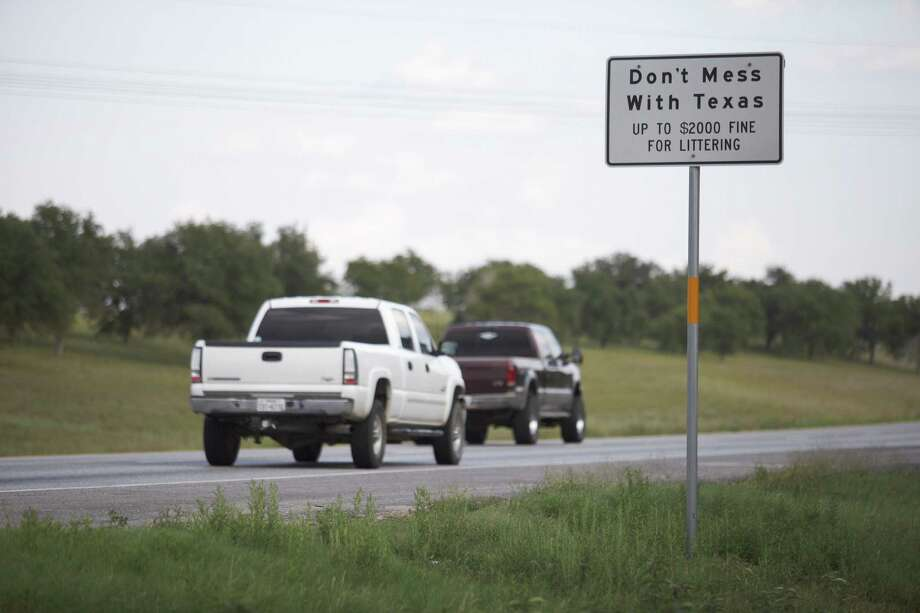 """The iconic slogan """"Don't Mess With Texas"""" was coined in 1985 by the founder of an advertising agency hired to help with an anti-littering campaign. Photo: Michael Stravato / New York Times"""