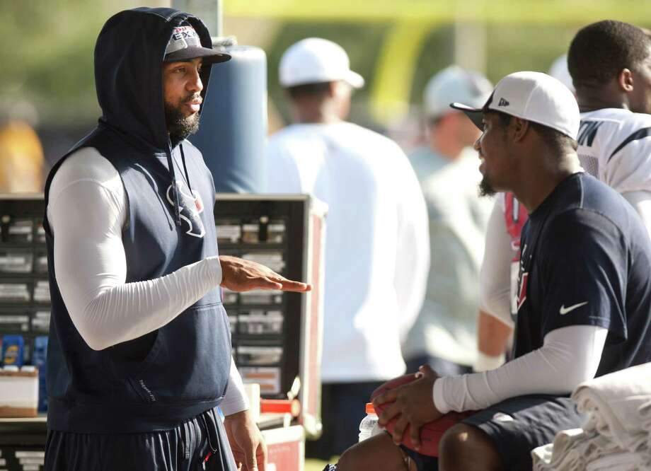 Texans running backs Arian Foster, left, and Ben Tate have the same goals - to make the most of their time on the field and win. Photo: Brett Coomer, Staff / © 2013 Houston Chronicle