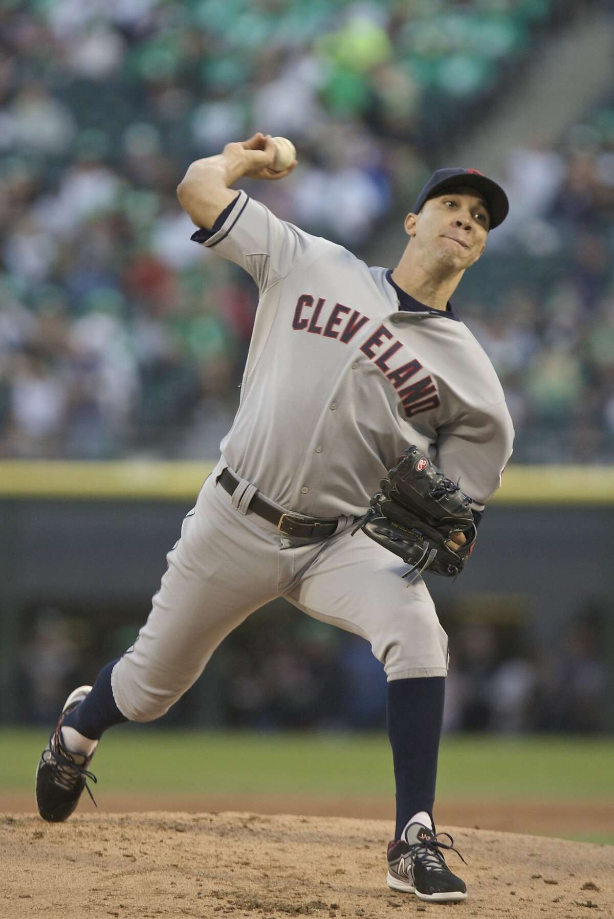 CHICAGO, IL - SEPTEMBER 14: Ubaldo Jimenez #30 of the Cleveland Indians throws to the Chicago White Sox during the first inning of their MLB game at U.S. Cellular Field on September 14, 2013 in Chicago, Illinois. (Photo by John Gress/Getty Images)