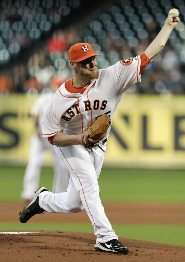 Sept. 14: Angles 6, Astros 2Brett Oberholtzer #65 of the Astros throws against the Angels. Photo: Bob Levey, Getty Images