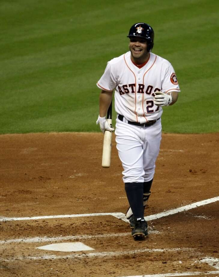 Jose Altuve reacts after striking out. Photo: Eric Christian Smith, Associated Press