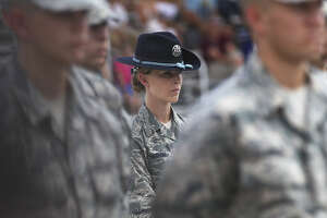 These days, about 20 percent of all instructors at Joint Base San Antonio-Lackland are women. That is up from about 11 percent last year.