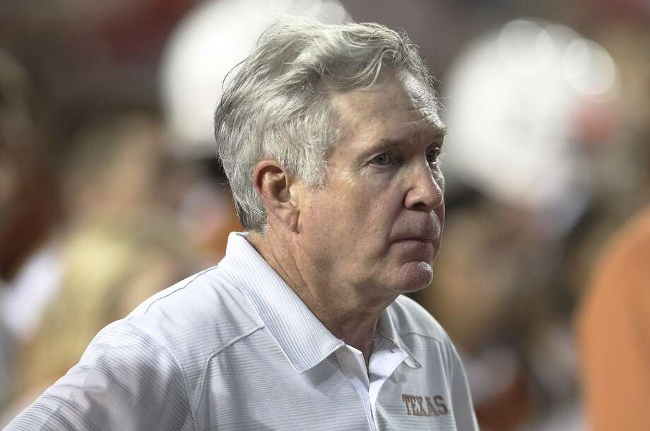Texas coach Mac Brown at the end of the game against Ole Miss in Austin on Saturday, Sept. 14, 2013. Ole Miss defeats Texas, 44-23. (Kin Man Hui/San Antonio Express-News) Photo: Kin Man Hui, San Antonio Express-News