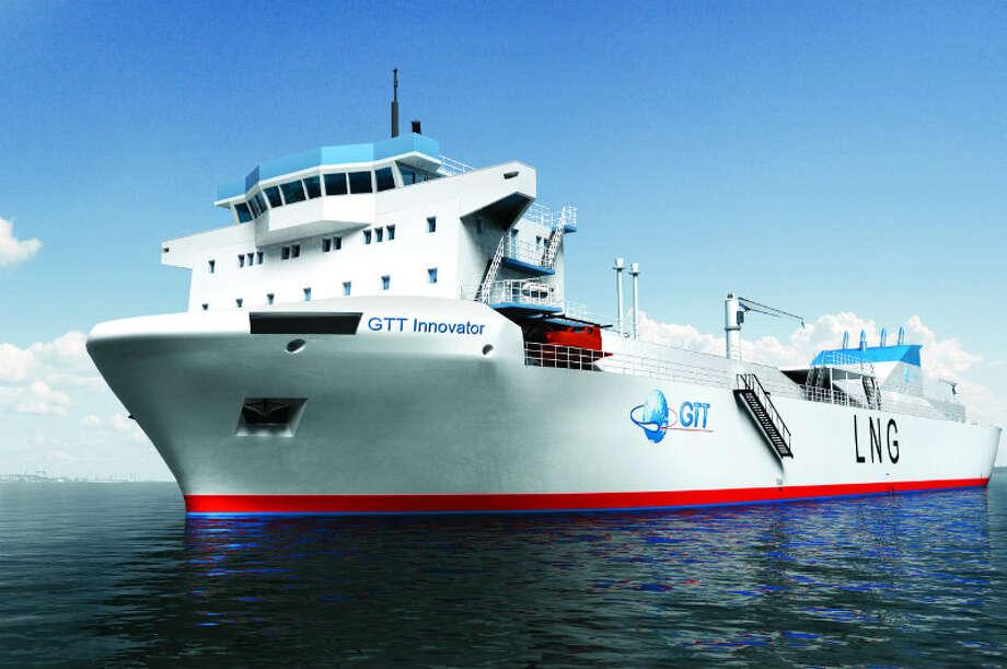 A GTT liquefied natural gas tanker. Photo: GTT