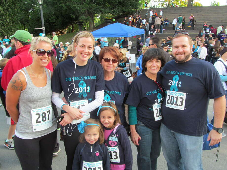 Were you Seen at the Caring Together ovarian cancer support group's Teal Ribbon Run/Walk at Washington Park in Albany on Sunday, Sept. 15, 2013? Photo: Kristi Gustafson Barlette/Times Union