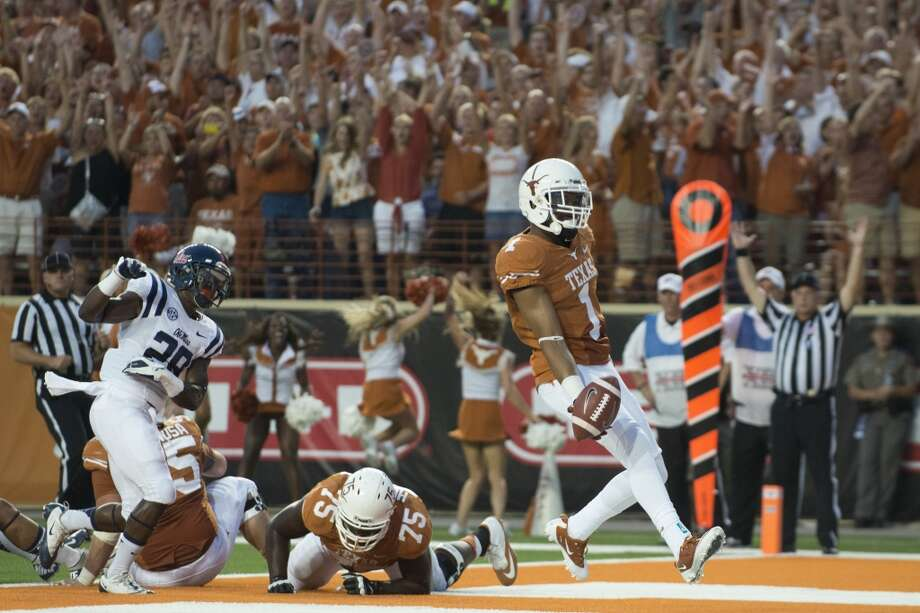 Ole Miss 44, UT 23Record: 1-2  Mike Davis #1 of the Texas Longhorns scores a touchdown. Photo: Cooper Neill, Getty Images