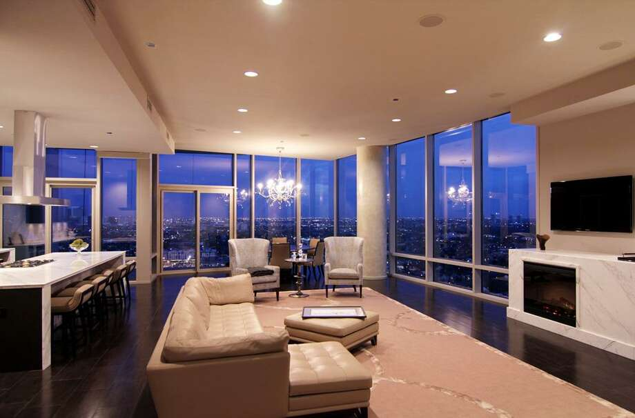 Living room with east and south views.  See the listing online or contact realtor Patricia Garrison: 2727 Kirby 25F
