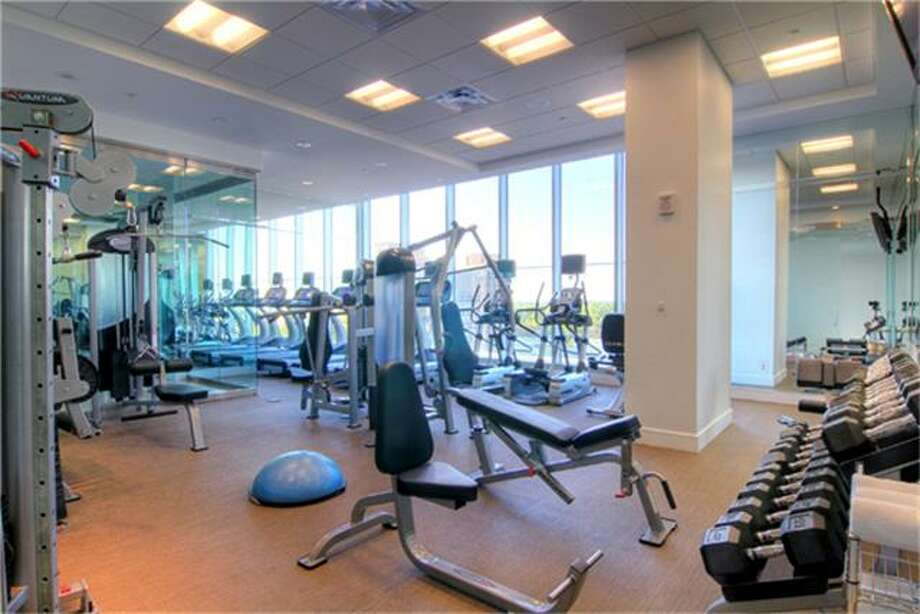 Fitness center.