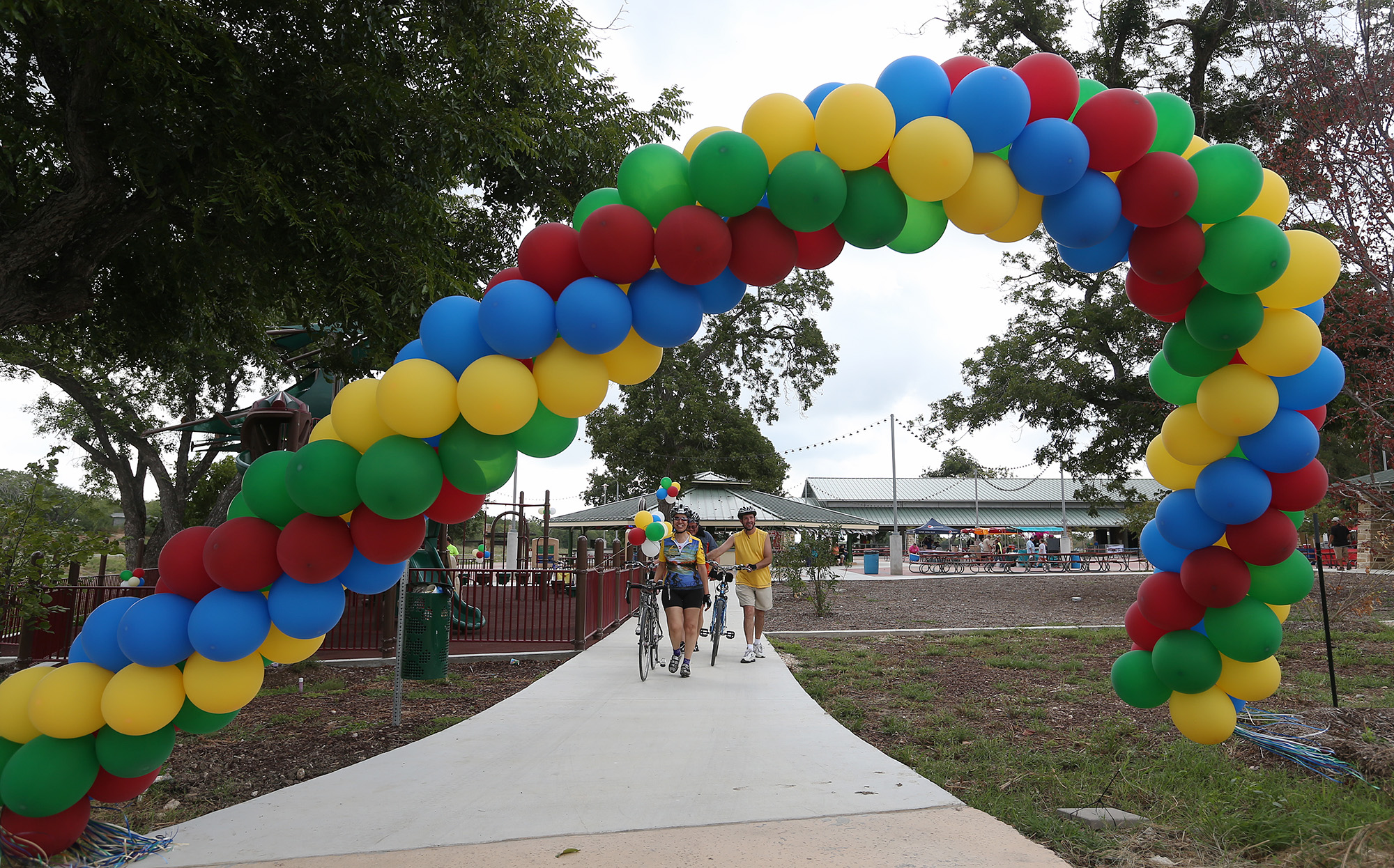 Mission Park Pavilions Hold Grand Opening San Antonio